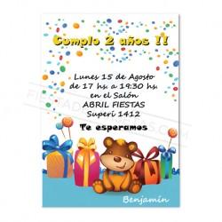 Tarjetas De Invitacion Para Cumpleaños Infantiles Adultos