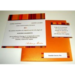 Tarjeta de Casamiento CAS003