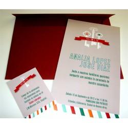 Tarjeta de Casamiento CAS004
