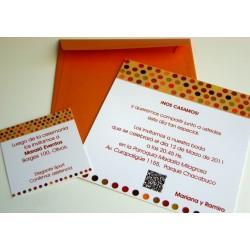 Tarjeta de Casamiento CAS005