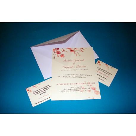 Tarjeta de Casamiento CAS011