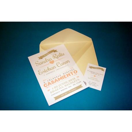 Tarjeta de Casamiento CAS014
