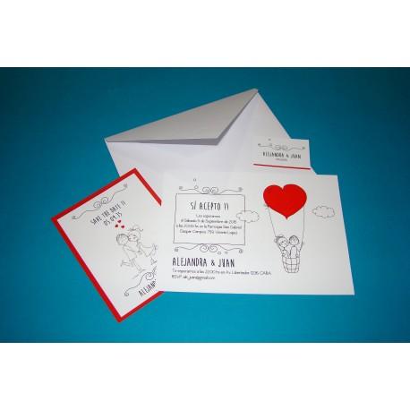 Tarjeta de Casamiento CAS015