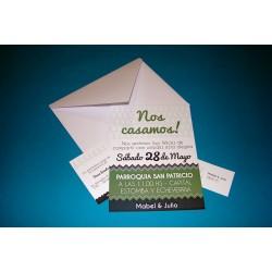 Tarjeta de Casamiento CAS016