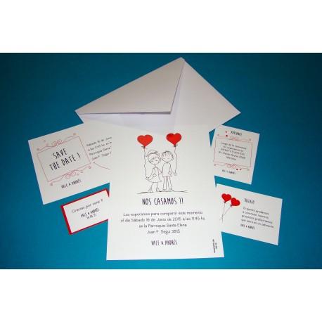 Tarjeta de Casamiento CAS017