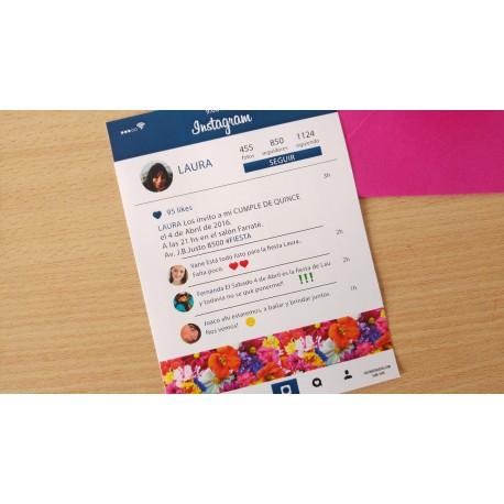 Invitación instagram