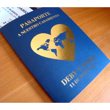 Invitación Pasaporte Casamiento Boda