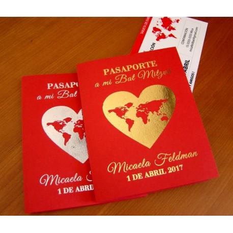 Invitación de Bat mitzvá Pasaporte